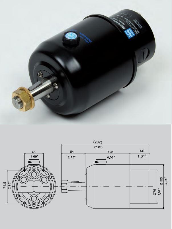 dimension pompe de direction hydraulique Mavimare GF150BRT
